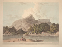 The Rock of Trichinopoly, taken on the River Cauvery